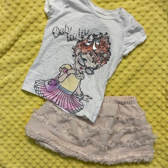 25edd89bd Disney Matching Sets   Xs Fancy Nancy Top 1824mth Gap Skirt Must ...
